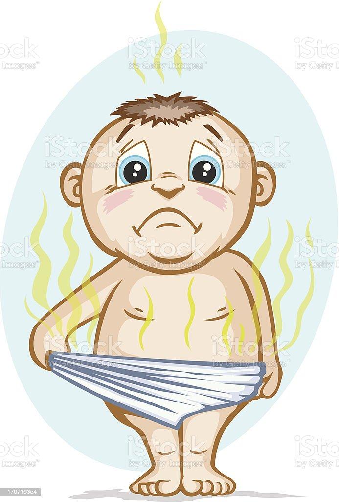 Smelly Diaper vector art illustration