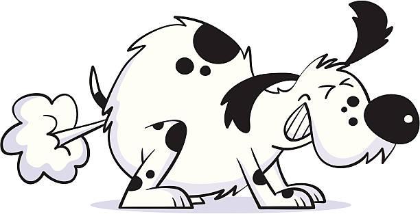 Smelly dog . smelly dog  dog gas stock illustrations