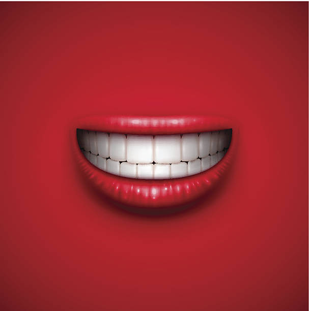 smile background - toothy smile stock illustrations