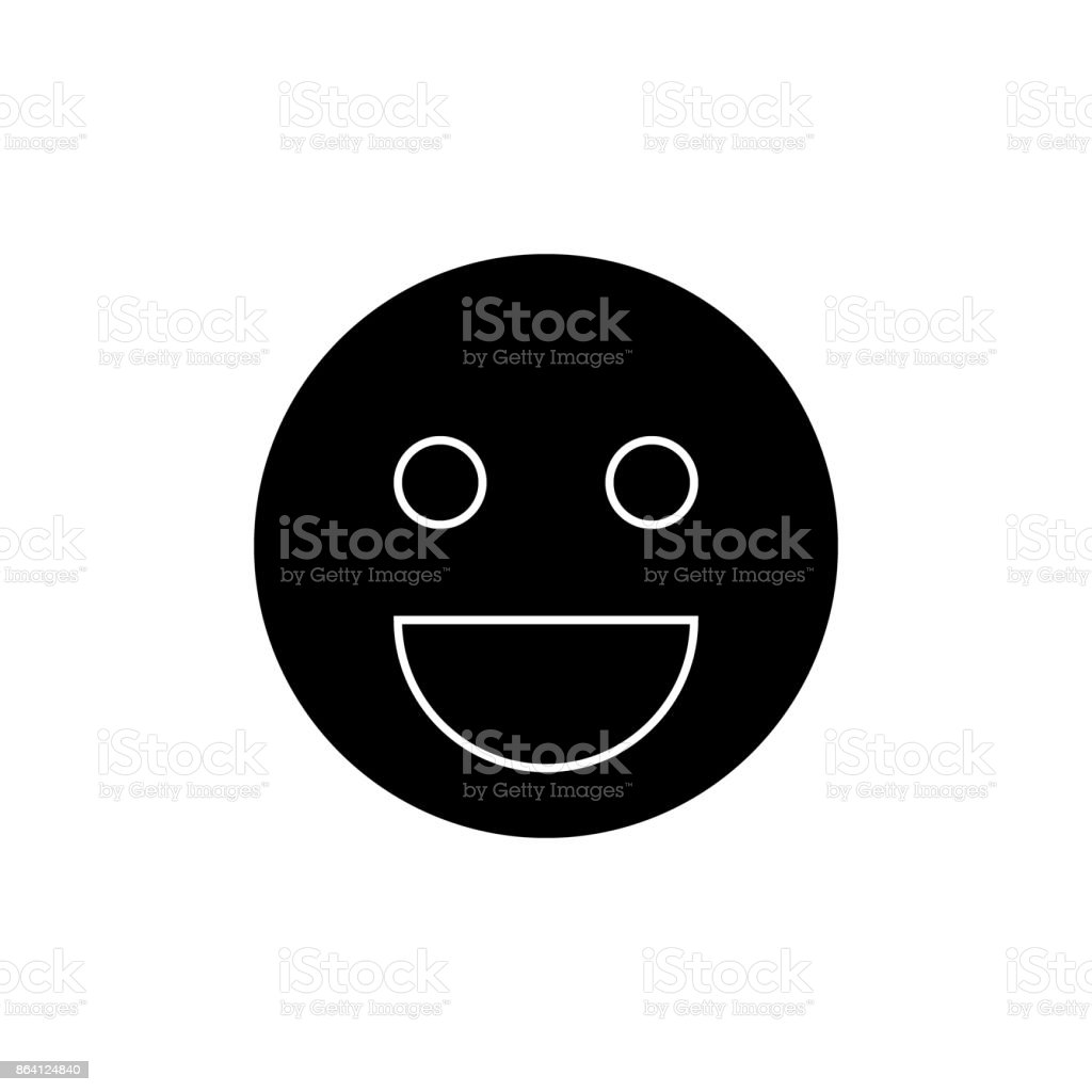 smile emoji  icon, vector illustration, sign on isolated background royalty-free smile emoji icon vector illustration sign on isolated background stock vector art & more images of adult