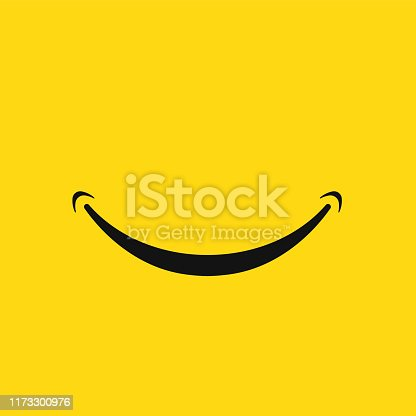 Smile face icon isolated on white background. Vector illustration. Eps 10.