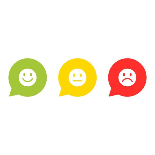lächeln gesicht bewertung icon vektor - feedback stock-grafiken, -clipart, -cartoons und -symbole