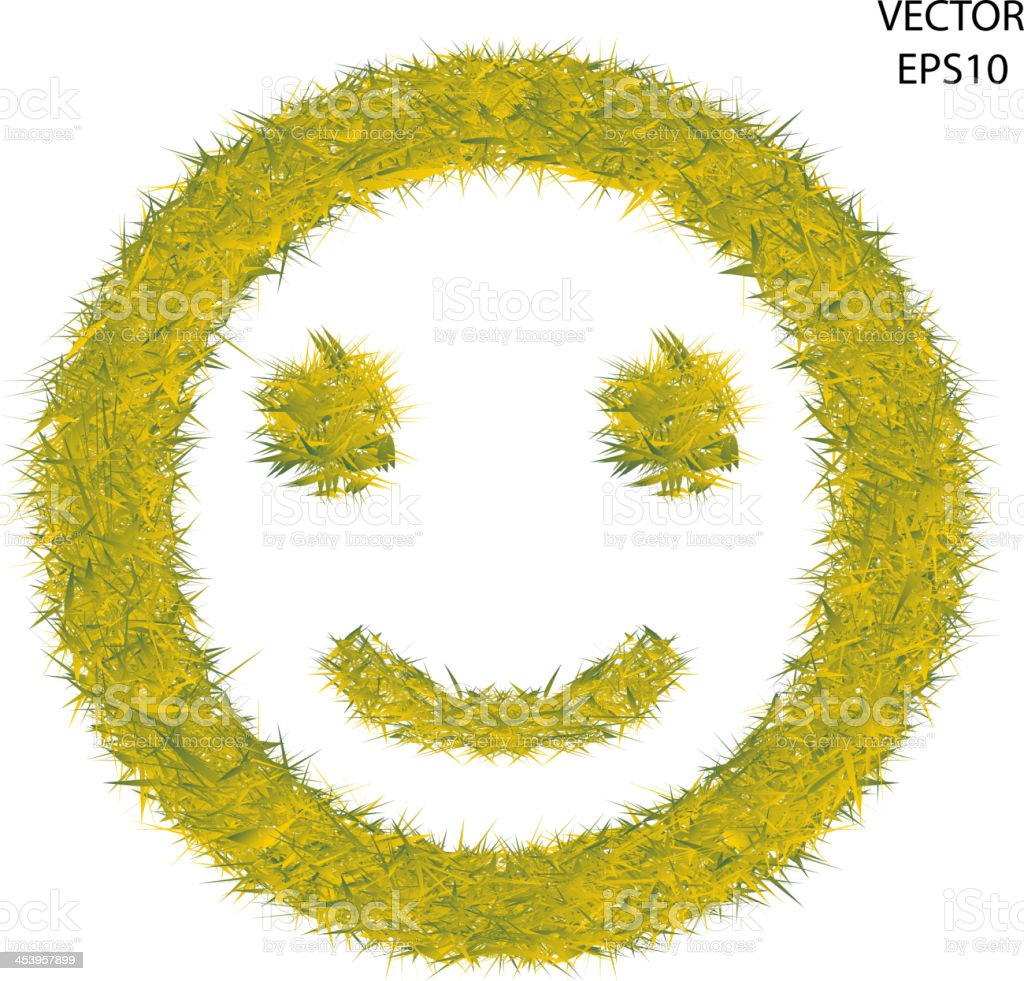 Smile Grass symbol vector art illustration