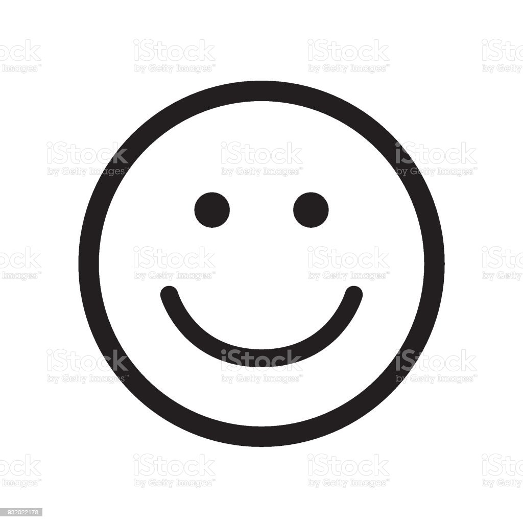 Smile Icon Happy Face Symbol Stock Vector Art More Images Of