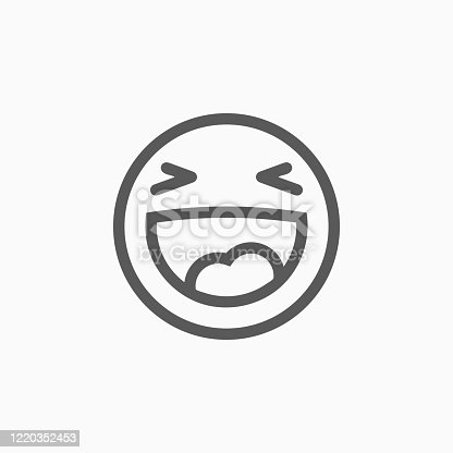smile icon, laugh vector