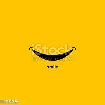 Smile icon Logo On White. Vector Template Design
