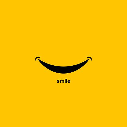 Smile icon Logo On White. Vector Template Design clipart