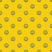 istock Smile icon pattern. Happy and sad faces. Vector abstract background 1284024960