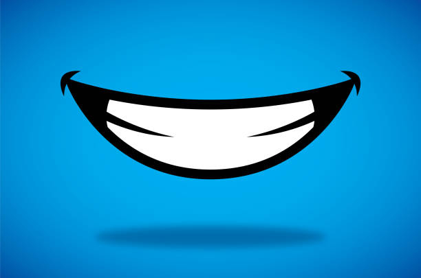 illustrazioni stock, clip art, cartoni animati e icone di tendenza di smile icon - denti