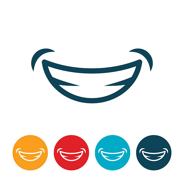 stockillustraties, clipart, cartoons en iconen met smile icon - smile