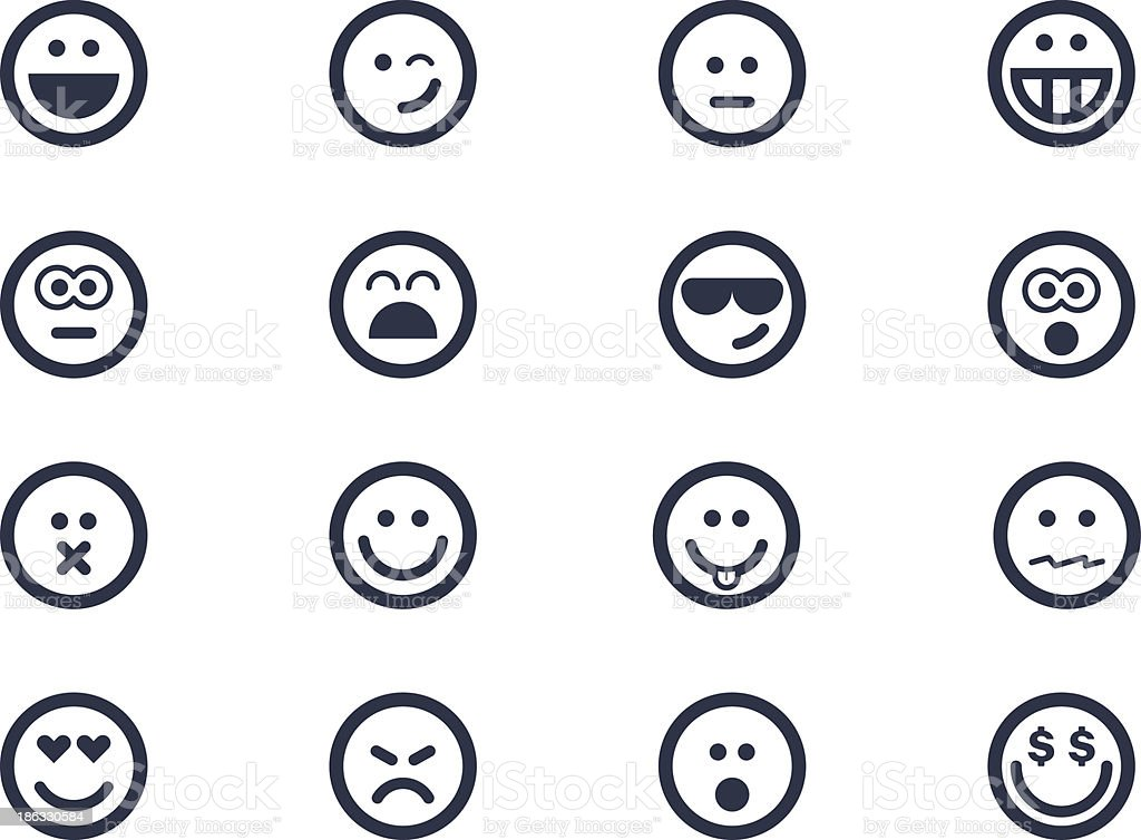 Smile icons vector art illustration