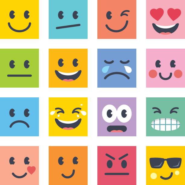 smile icons - tears of joy emoji stock illustrations