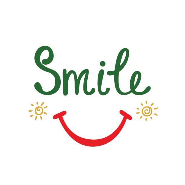 lächeln. inspirierende zitat über glücklich. - zigeunerleben stock-grafiken, -clipart, -cartoons und -symbole