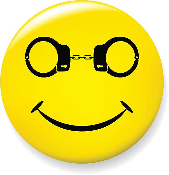 ilustraciones, imágenes clip art, dibujos animados e iconos de stock de de gafas con un pie atado al suelo sonreír - emoji emocionado