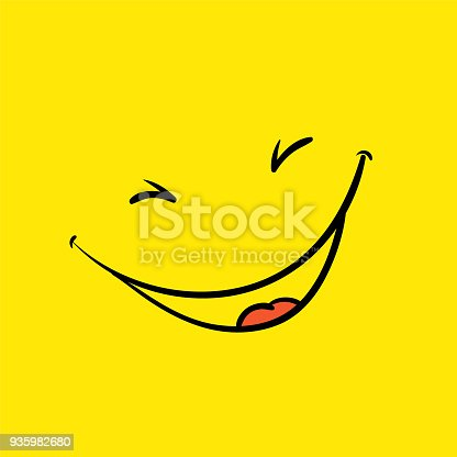 smile template yellow positive thinking poster arte vetorial de