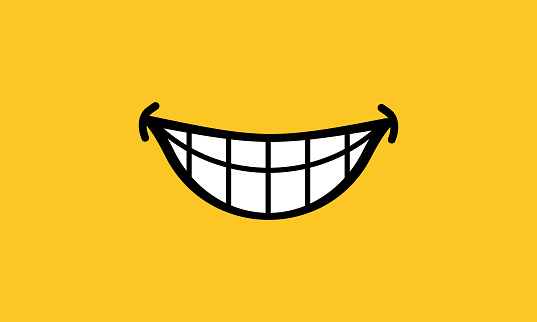Smile vector icon, happy emotion. Vector on isolated background. EPS 10