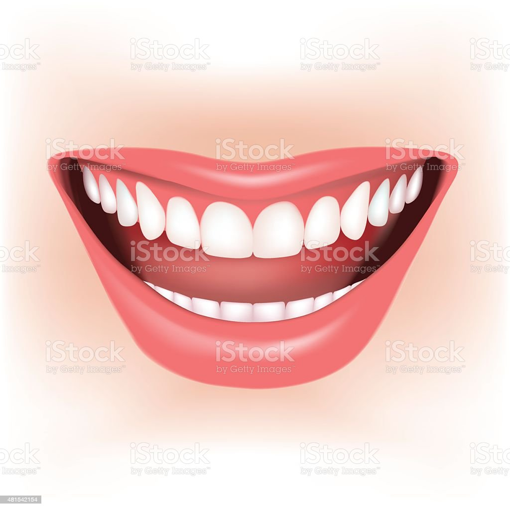 Smile vector art illustration