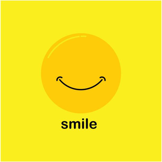 ilustrações, clipart, desenhos animados e ícones de sorria vetor modelo de design - smile
