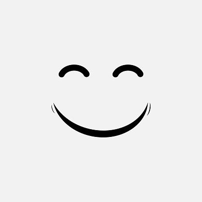 Smile Vector Template Design clipart