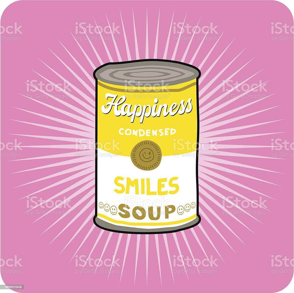 Smiles soup vector art illustration