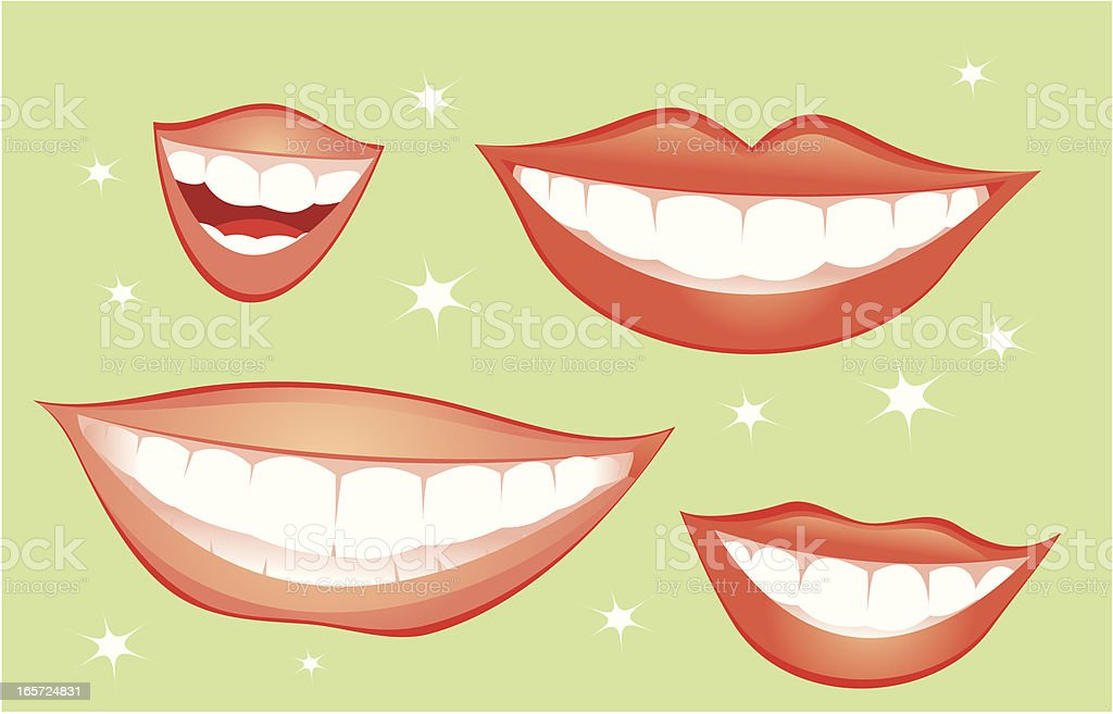 Smiles vector art illustration