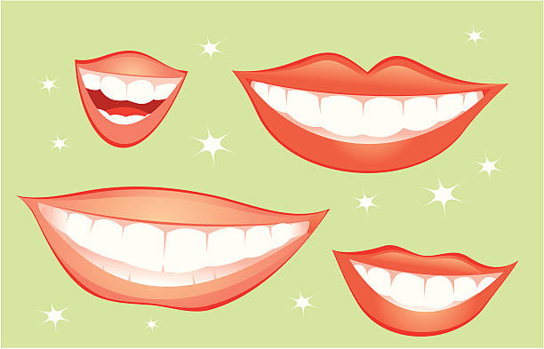smiles - toothy smile stock illustrations