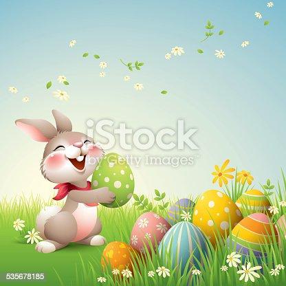 istock Smiley Bunny - Easter 535678185