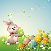 Smiley Bunny - Easter
