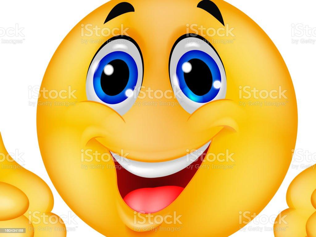 Dessin anim smiley avec pouce lev cliparts vectoriels - Dessin avec emoticone ...