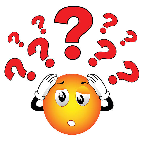 smiley emoticon who have some questions - confused emoji stock illustrations, clip art, cartoons, & icons