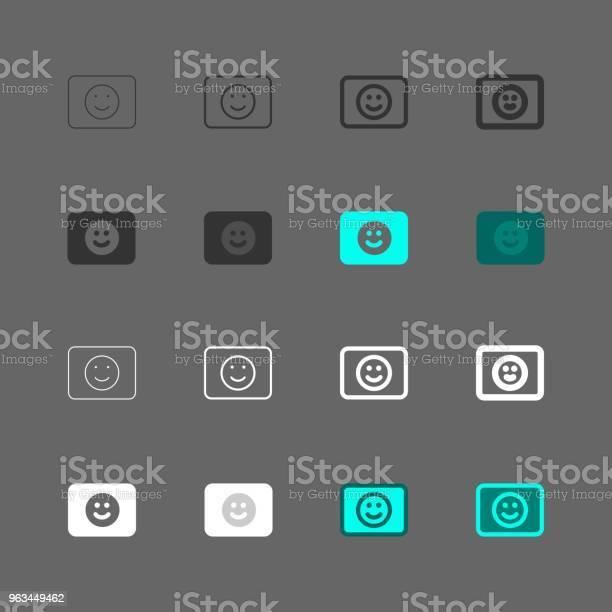 Ikona Wykrywania Buźek Multi Series - Stockowe grafiki wektorowe i więcej obrazów Antropomorficzna buźka