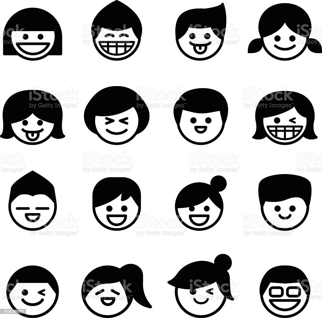 Smiley face happy face icons vector illustration stock vector art smiley face happy face icons vector illustration royalty free smiley face happy face voltagebd Choice Image