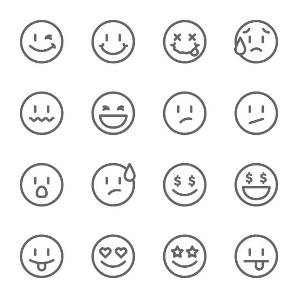 Smiley Face Vector Line Icon Set. Contains such Icons as Happy, Cheeky, Emoji and more. Expanded Stroke Smiley Face Vector Line Icon Set. Contains such Icons as Happy, Cheeky, Emoji and more. Expanded Stroke blinking stock illustrations