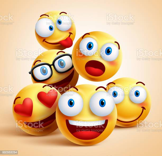 Smiley faces group of vector emoticon characters with facial vector id532553254?b=1&k=6&m=532553254&s=612x612&h=yg9p1l ox6udpkhy22qjr130yb1gur gpf3fpxmrldc=
