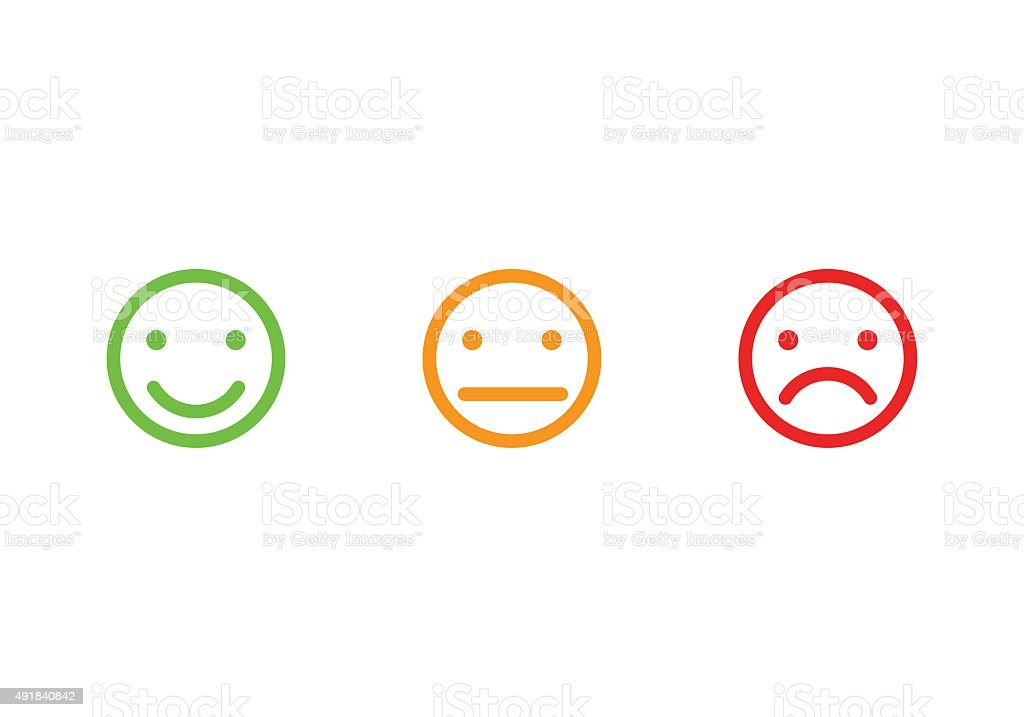 Smiley faces icons vector art illustration