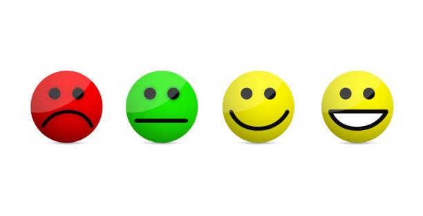smiley faces ebenen symbole abbildung isoliert auf einem weißen - funktionssofa stock-grafiken, -clipart, -cartoons und -symbole
