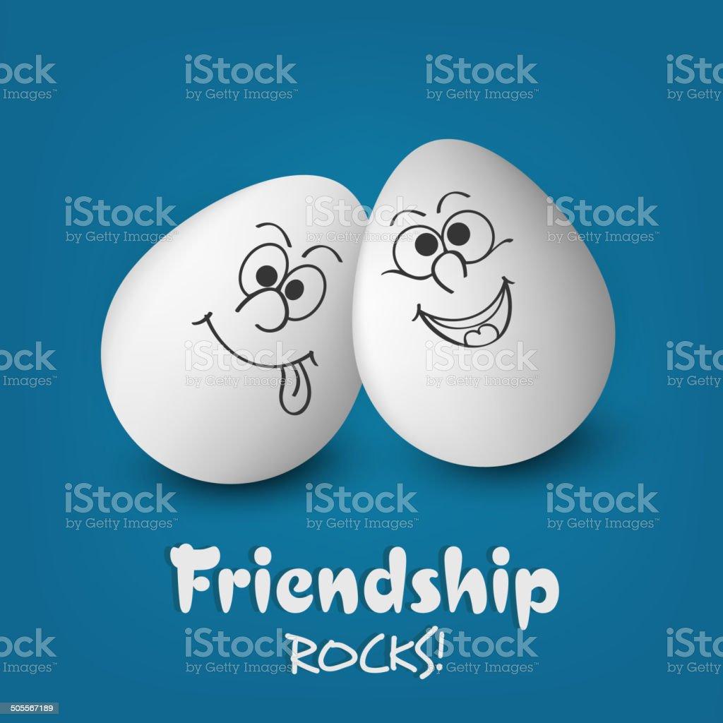 Sorridente Facce Dipinte In Bianco Uova Per La Giornata Mondiale  Dellamicizia Feste - Immagini vettoriali stock e altre immagini di Amicizia  - iStock