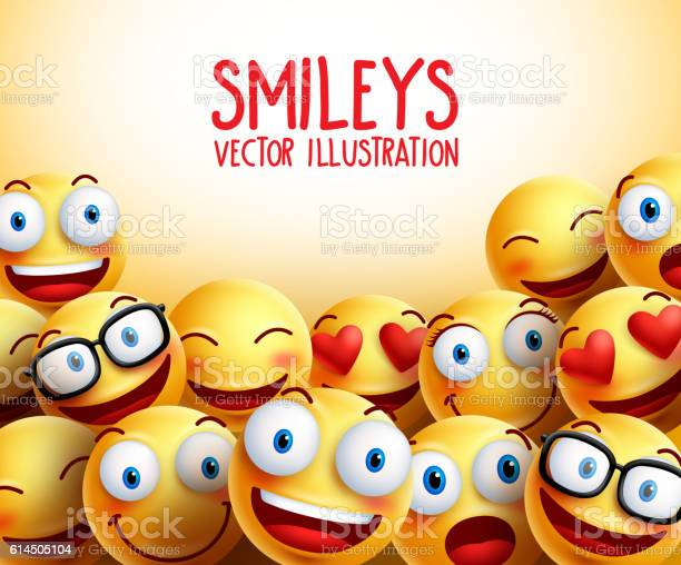 Smiley faces vector background with different facial expressions vector id614505104?b=1&k=6&m=614505104&s=612x612&h=xv8wmkta6fv9mzucyj41vuxcz5wtpicqixdpjifg3rm=