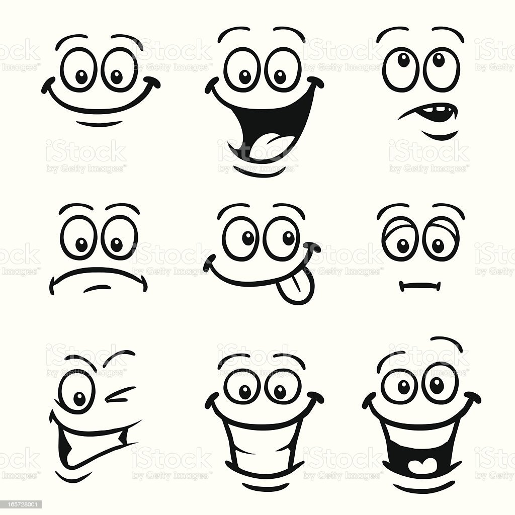 Smiley Faces vector art illustration