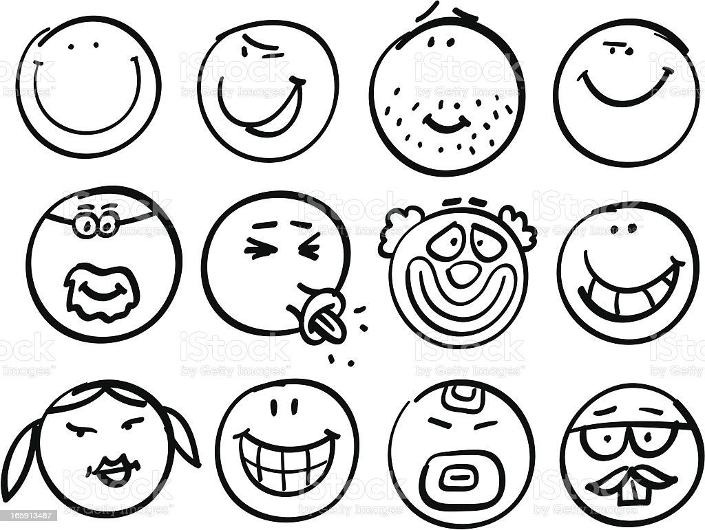 Smiley head collection royalty-free smiley head collection stock vector art & more images of adult