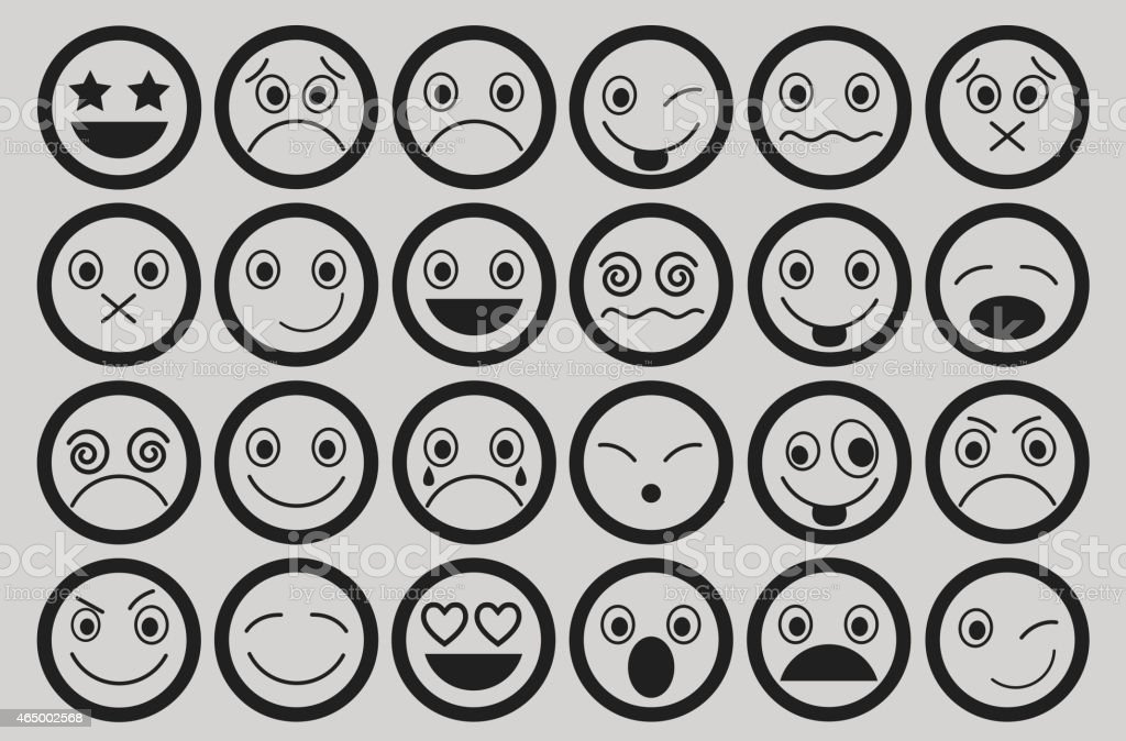 Smiley-Icons Design – Vektorgrafik