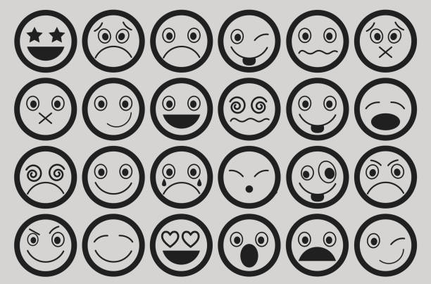 smiley icons design set - jealous emoji stock illustrations, clip art, cartoons, & icons
