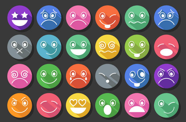 smiley icons flat design - jealous emoji stock illustrations, clip art, cartoons, & icons