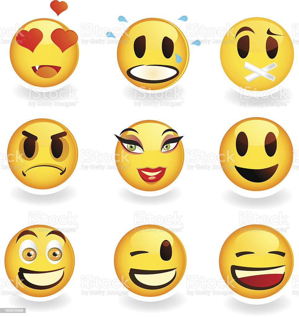 Smiley Icons royalty-free stock vector art