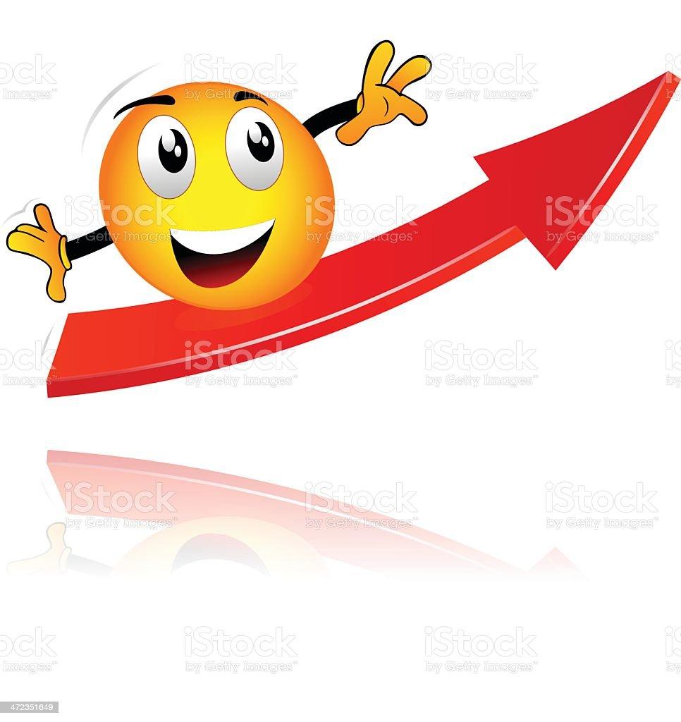 smiley on an arrow royalty-free stock vector art