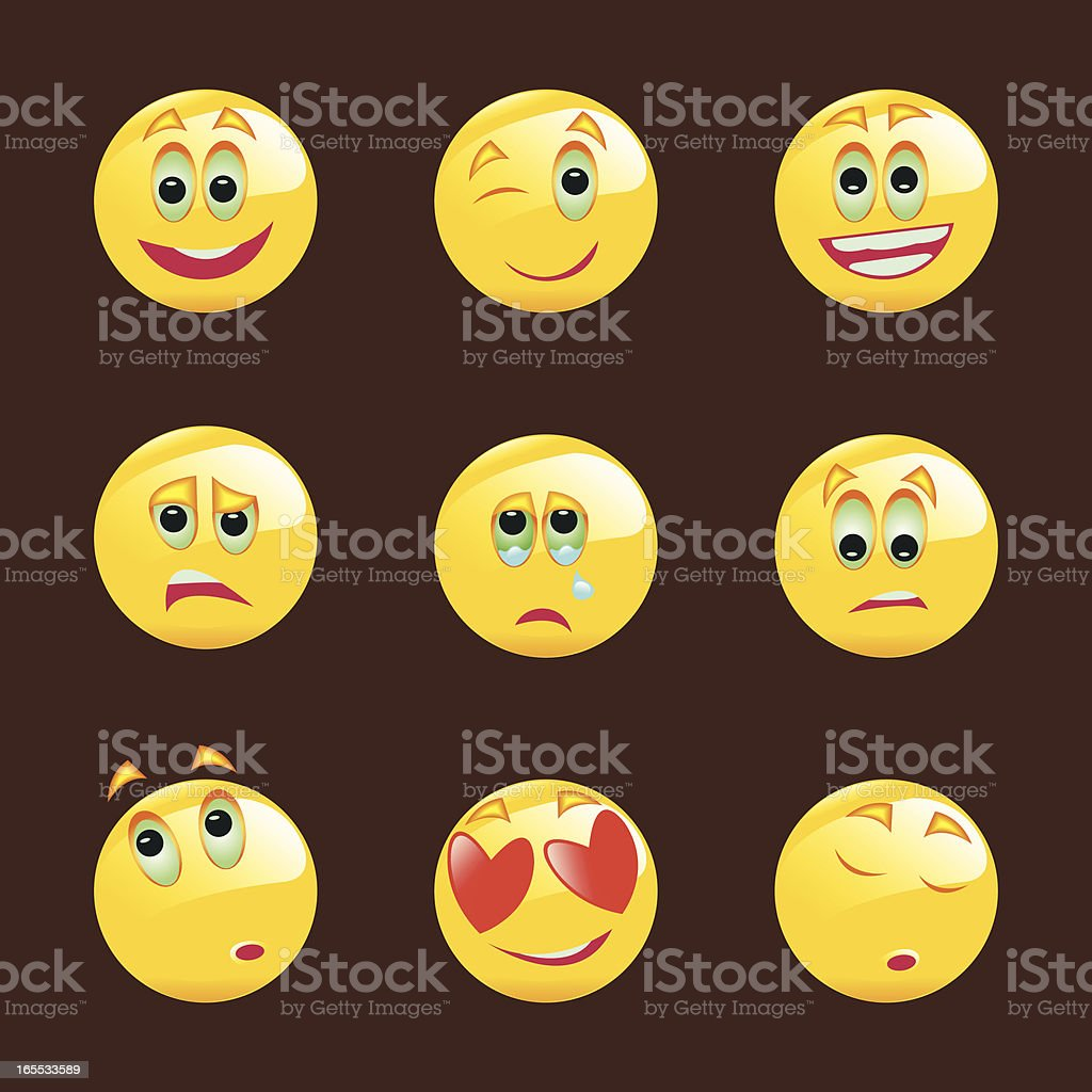 Smiley set royalty-free stock vector art