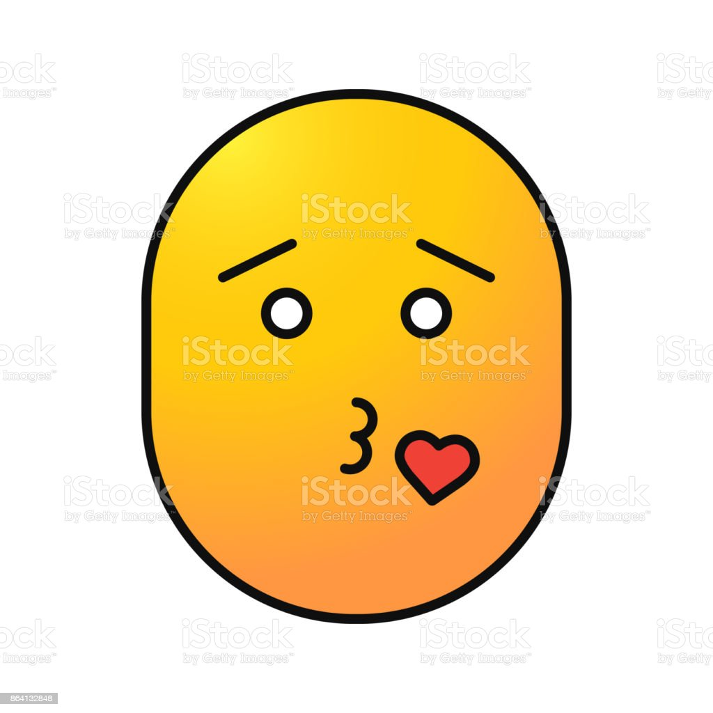 Smiley throwing kiss color icon royalty-free smiley throwing kiss color icon stock vector art & more images of adult
