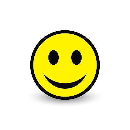 Smiley yellow icon. Vector emoticon happy face. clipart