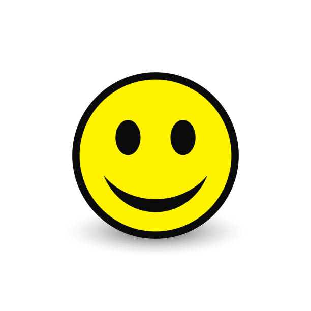 stockillustraties, clipart, cartoons en iconen met smiley gele pictogram. vector emoticon blij gezicht. - smile