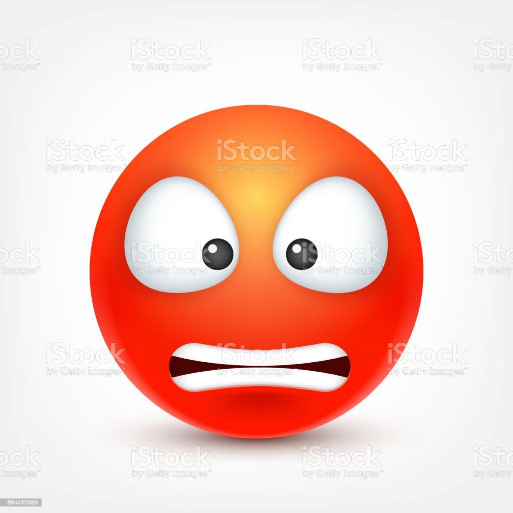 Emoticon wütend